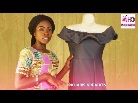 How To Cut Six Pieces Off Shoulder Cape Dress