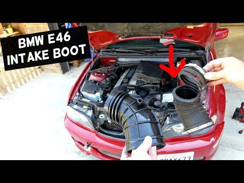 BMW E46 ITNAKE BOOT REPLACEMENT REMOVAL 323i 325i 328i 330i
