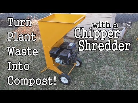 Processing Organic Waste For Your Compost with a Chipper Shredder!