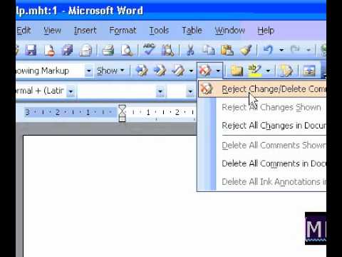 Microsoft Office Word 2003 Delete all comments