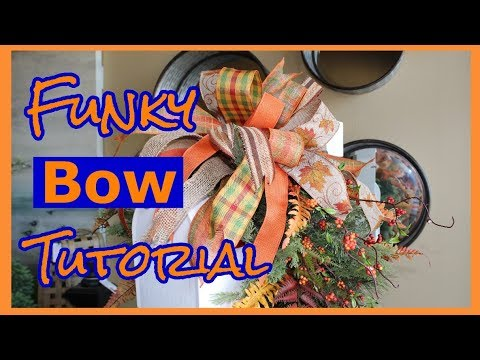 Learn How To Make A Ribbon Bow 2018 Tutorial / Easy Steps / Funky Bow DIY (Three Different Ways)