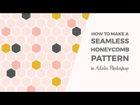 How to make a seamless honeycomb pattern Photoshop