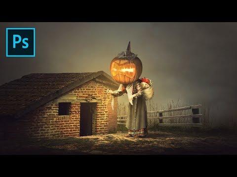 Photoshop Manipulation Tutorial - Grandma Pumpkin | Happy Halloween Guys!