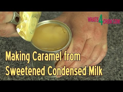 How to Make Caramel from Sweetened Condensed Milk - Dulce de Leche from Condensed Milk!!!!