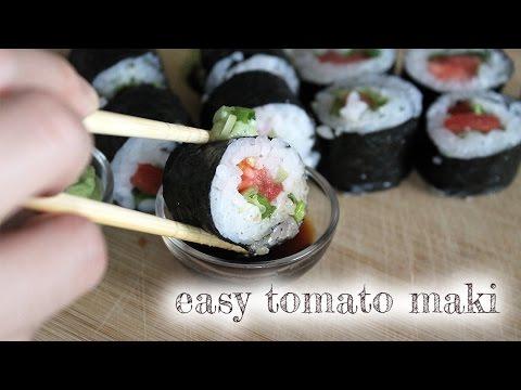 Tomato Maki Sushi [ vegan + gluten-free + soy-free ]
