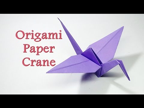 How to Make-Origami Crane|| Flapping Crane || Easy Origami Animals || Craftastic