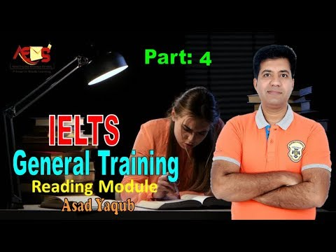 GT Reading Practice Test  | Sentence Completion | Asad Yaqub | Part 4