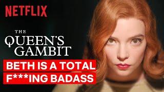 Beth is a Total F***ing Badass | The Queen's Gambit | Netflix