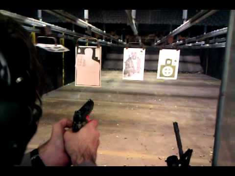 I try and shoot Osama's right eye with my Kimber 45!!