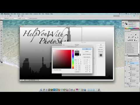 How To Make A WallPaper With PhotoShop CS5.5