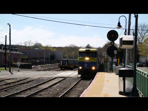 LIRR Train arriving at Port Jefferson station