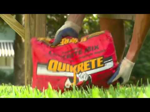Setting Posts with QUIKRETE® Fast-Setting Concrete in the Red Bag HD
