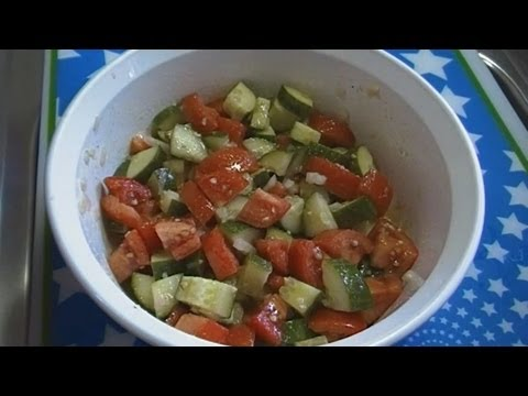 Classic Tomato & Cucumber Salad!  Noreen's Kitchen Fast & Fresh!