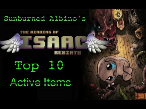 Top 10 Active Items in The Binding Of Isaac Rebirth
