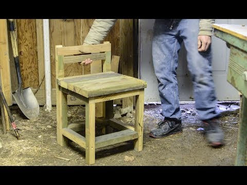 Firewood Rack & Chairs - Made from old stairs.