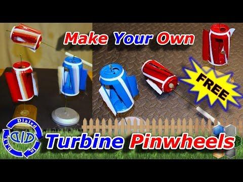 Make Turbine Pinwheels - Amazing Coke Can Project
