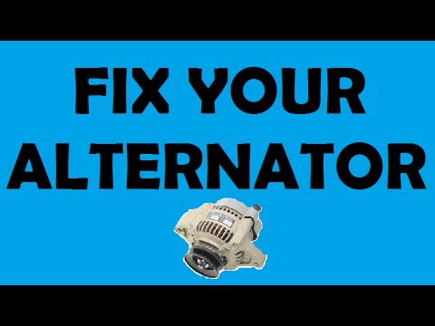 How to replace a Dodge Caravan / Town and Country Alternator