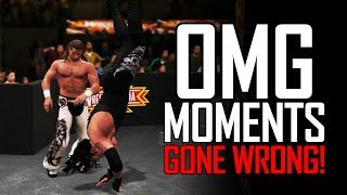OMG MOMENTS GONE WRONG IN WWE GAMES! (OMG Moment Reversal Animations)