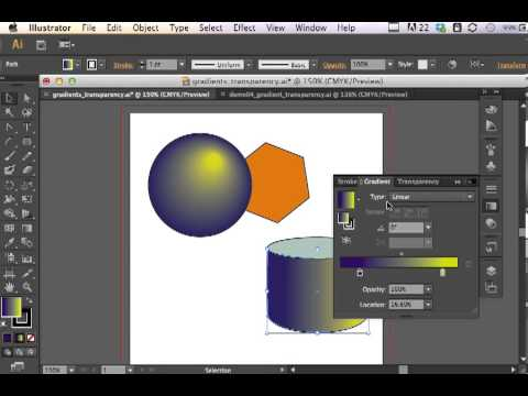 Adobe Illustrator CS6 Gradients and Transparency