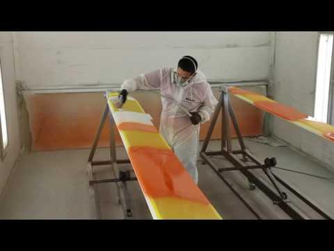 Painting High Visibility Stripes on VHA 206B Main Rotor Blades