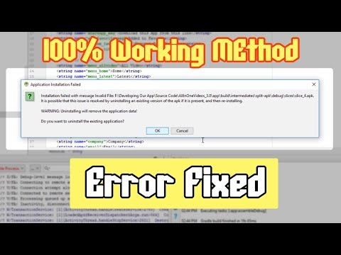 [Fixed] Installation failed with message invalid file android studio