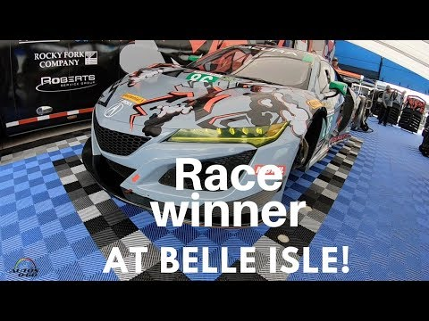 Acura NSX GT3 Paddock with Team Owner Michael Shank at Belle Isle