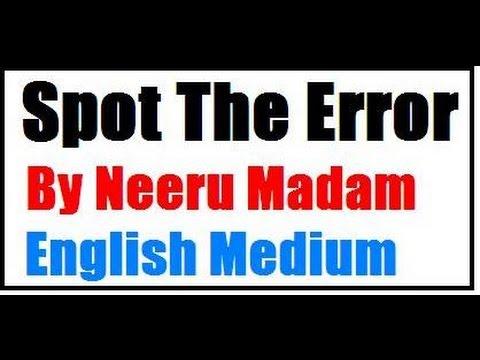 SSC CGL Spot the error ( English medium)