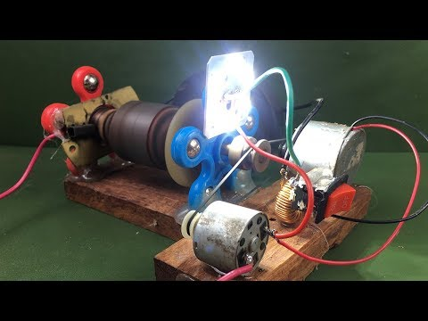Electricity Magnetic Free Energy Generator Using DC Motor - Experiment Science School Project 2018
