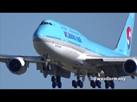 Korean Air HL7642 Boeing 747-8i Missed Approach Test Flight @ KMWH