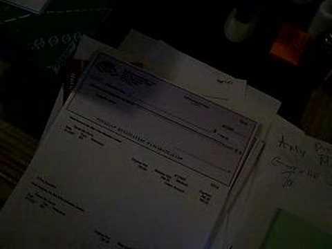 Siging the First Payroll Checks