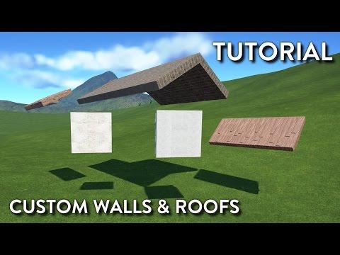 Planet Coaster Tutorial - Custom Walls & Roofs