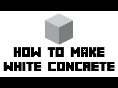 Minecraft Survival: How to Make White Concrete