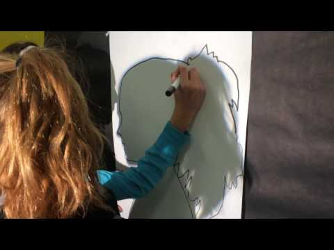 Identity Portrait Painting TRACING SILHOUETTES