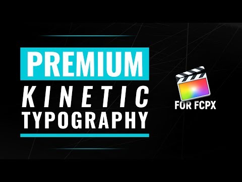 Kinetic Typography for Final Cut Pro