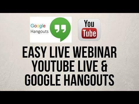 Host A Simple Free Webinar With Youtube Live And Google Hangouts
