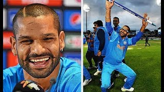 Shikhar Dhawan Funny Moments 2017 - Cricket