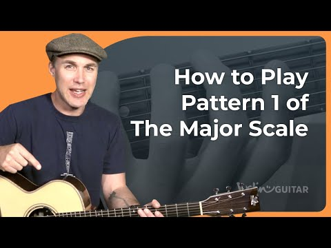 Guitar Major Scale Pattern 1 - Five Pattern System - Guitar Lesson Tutorial