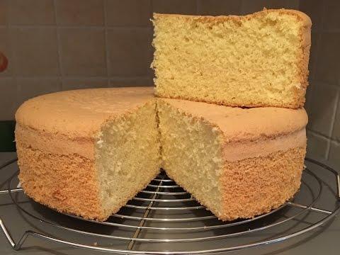HOW TO MAKE A SOFT AND FLUFFY SPONGE CAKE