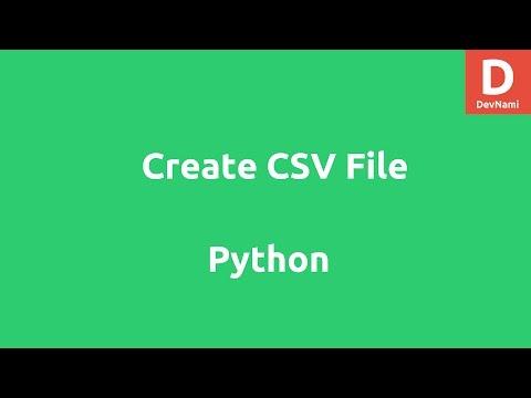 Create CSV File using Python List