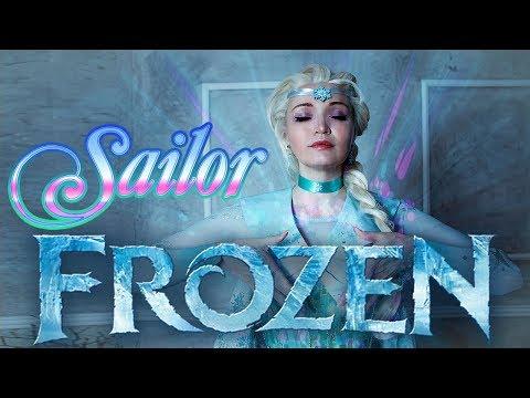 DISNEY Sailor Frozen ELSA COSPLAY