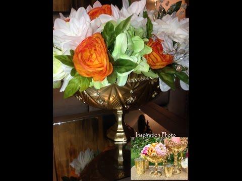 DIY Flower Pedestal Bowl