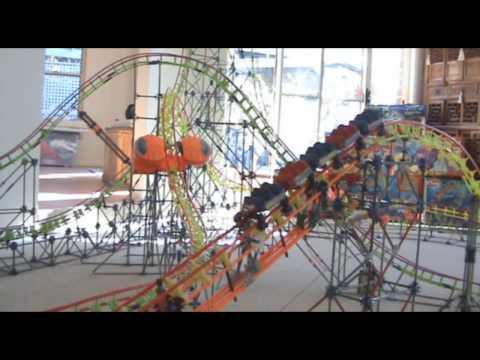 Superman Escape Movieworld - Knex Coaster Replica - Onride POV