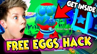 How To Get INSIDE The GUMBALL MACHINE & UNLOCK FREE Ocean Eggs in Adopt Me!!