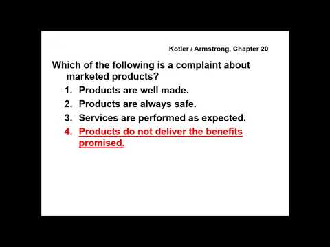 Principles of Marketing - QUESTIONS & ANSWERS -  Chapter 20