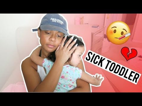 A REAL DAY IN THE LIFE OF A SINGLE MOM OF 2 | Sick Toddler Routine Vlog