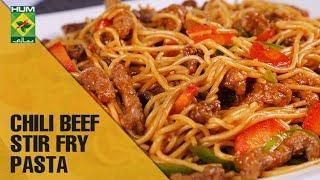 Best Chili Beef Stir Fry Pasta   Mehboob's Kitchen   Masala TV Show   Mehboob Khan