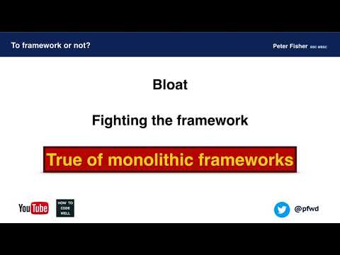 Using a Framework or Not - Peter Fisher - PHPSW: Lightning Talks, April 2018