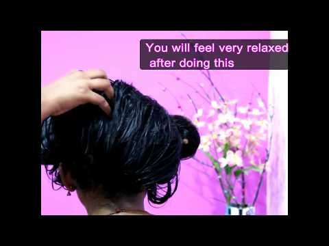 |HOT OIL MASSAGE FOR HAIR GROWTH| BEST TREATMENT FOR FRIZZY HAIR | STOP HAIR FALL| STRESS RELIEF|