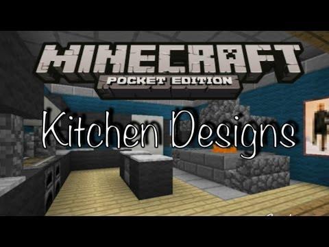 Minecraft PE - Kitchen Designs