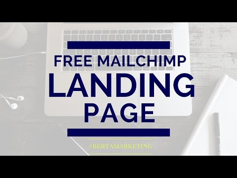 How to Create a Landing Page in Mailchimp - free version #berta tech tip #5